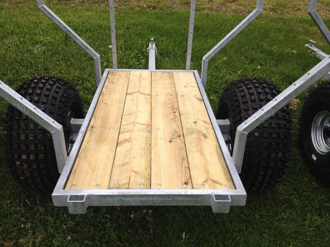 Atv woods trailer pull behind trailers single axle dump for Tandem flooring