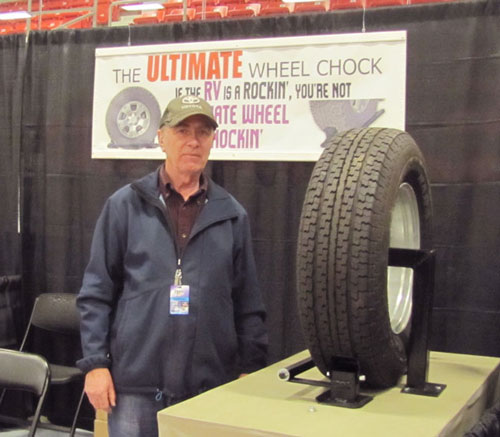 Allan Hubley at Ultimate Wheel Chock trade show booth